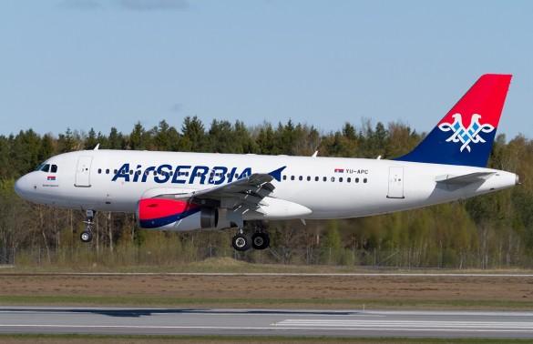 Avion avio kompanije Air Serbia Novak Đoković