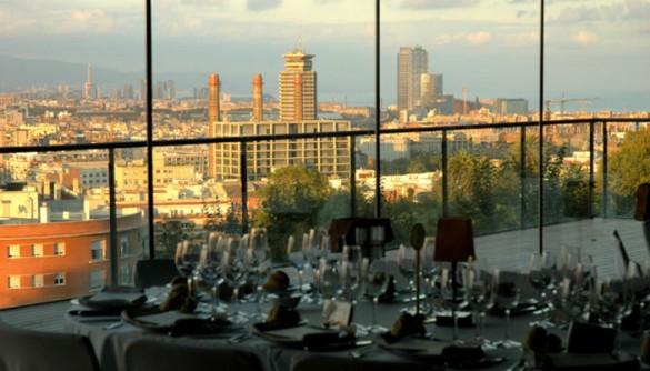 Montjuic restoran Barselona pogled na grad