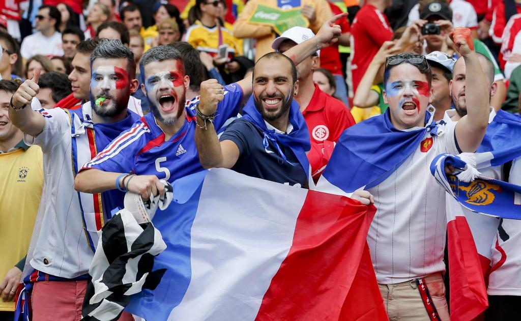 Svetsko prvenstvo Brazil - navijači Francuske