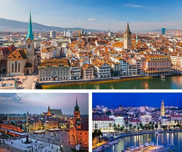 Air Serbia Beograd Split Varsava Cirih
