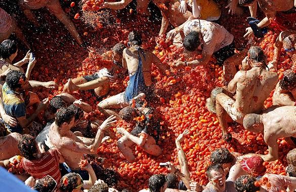 La Tomatina Spanija festival