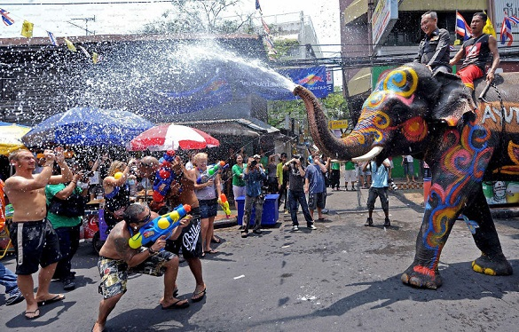 Songkran festival Tajland