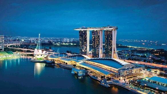 Singapur avio karte