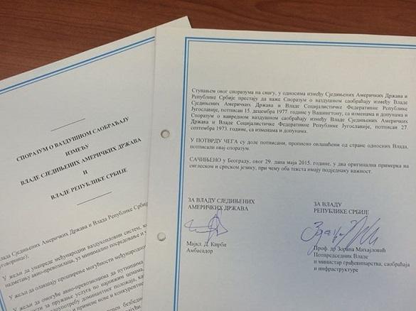 Letovi Beograd Njujork sporazum Srbija SAD