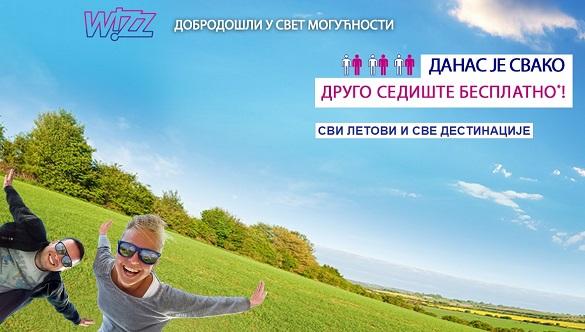 Wizz Air dve avio karte po ceni jedne Beograd