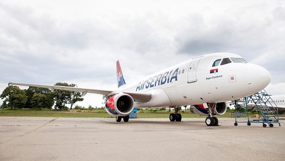 Air Serbia Srecan Petak Dejan Stankovic Beograd Frankfurt Larnaka - Copy