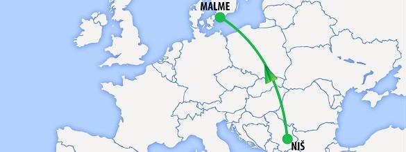 Avio karte Niš Malme