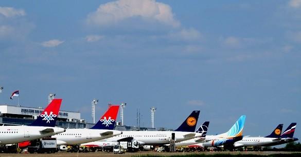 Aerodrom Nikola Tesla Beograd Air Serbia Lufthansa avio kompanije