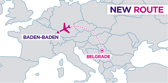 Wizz Air Beograd Baden-Baden nova linija mapa