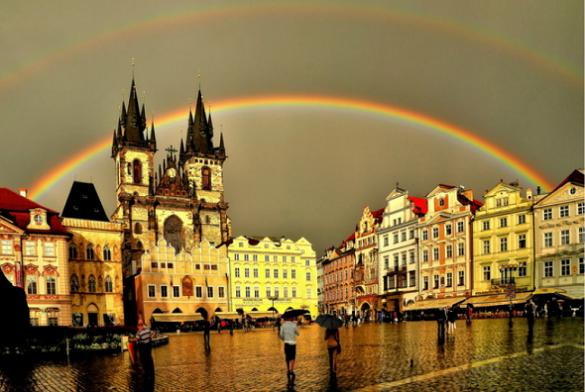 Prag zlatni grad Evropa putovanje