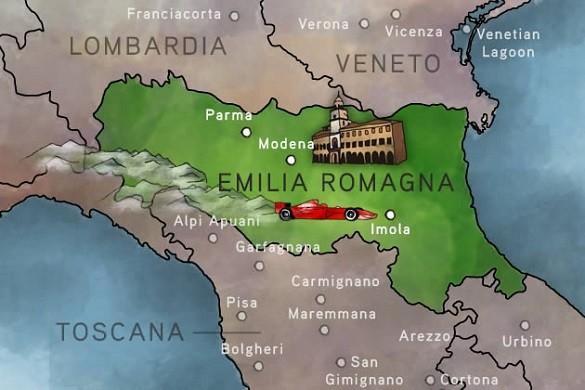 Emilia Romanja srce Italije