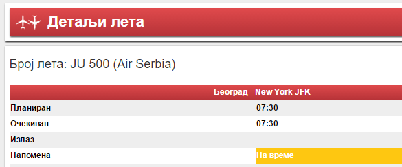 Air Serbia Beograd Njujork avio karte