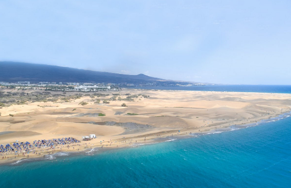 Playa del Inglés in Gran Canaria, Ibiza