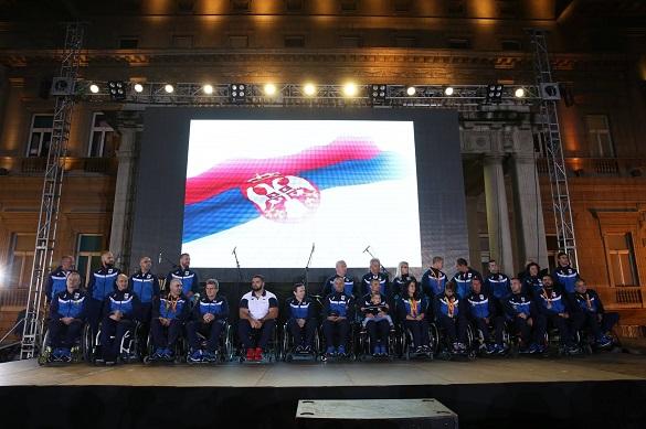 Srpski paraolimpijci doček