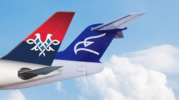 Air Serbia Montenegro Airlines kodser sporazum