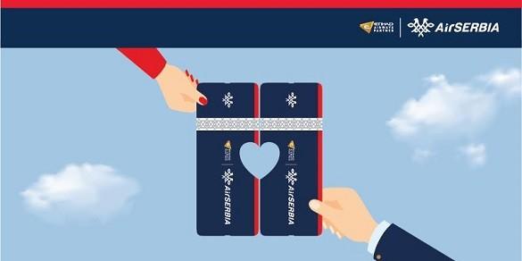 Air Serbia dve po ceni jedne avio karte Dan zaljubljenih Beograd februar 2017
