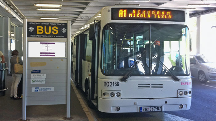 Prevoz do aerodroma Autobus A1 Beograd