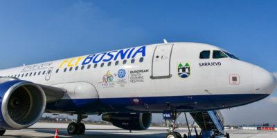Avio kompanija FlyBosnia slike