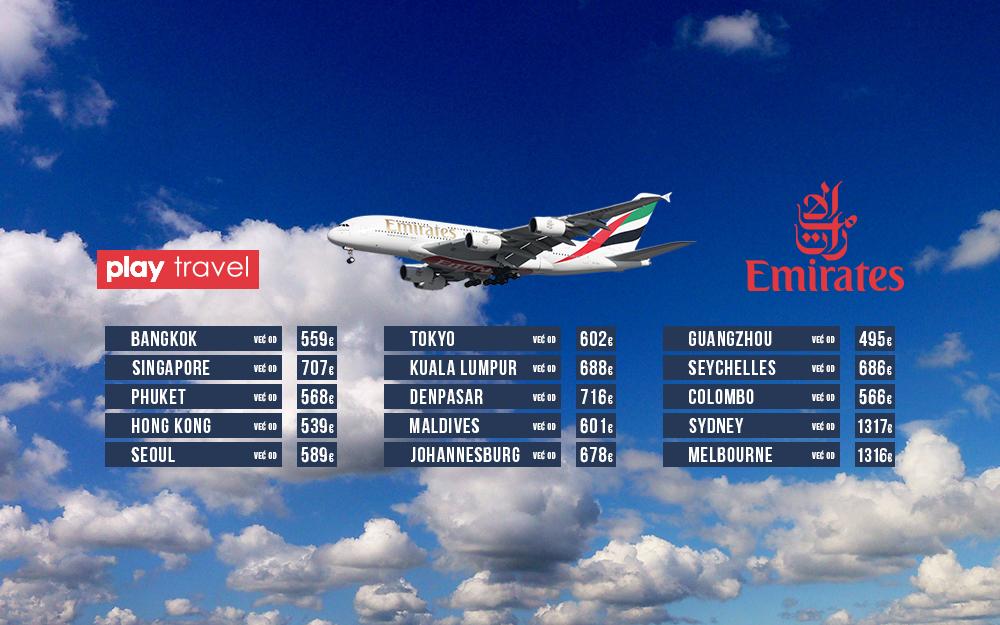 Emirates - 4 Dana dobrih cena 27 novembar 2018