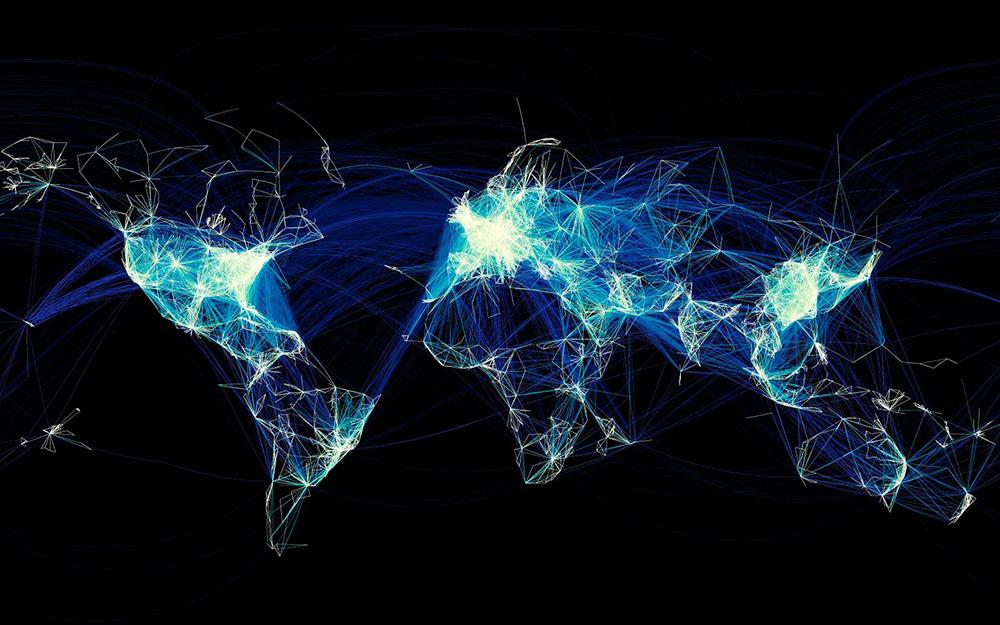Mapa svih letova na svetu lrg