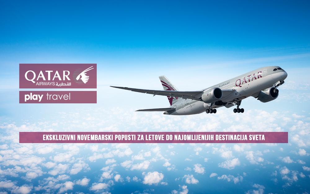 Qatar Airways - Novembarska promotivna akcija 12 2018