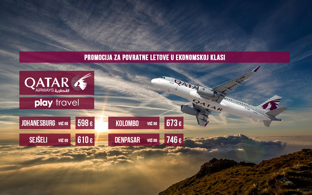 Qatar Airways - Promotivna akcija do 26. decembra
