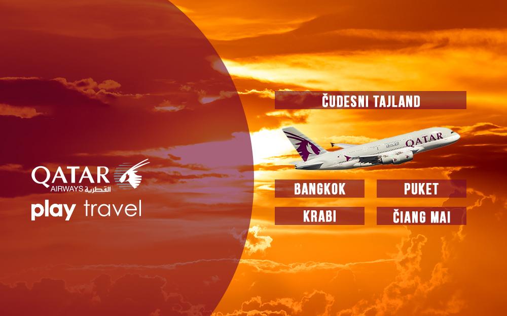Qatar Airways Promotivna akcija za Tajland decembar 2018