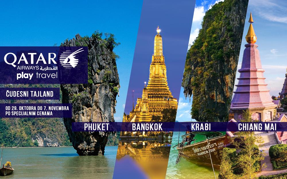 Qatar Airways - Promotivna akcija za Tajland oktobar 2018