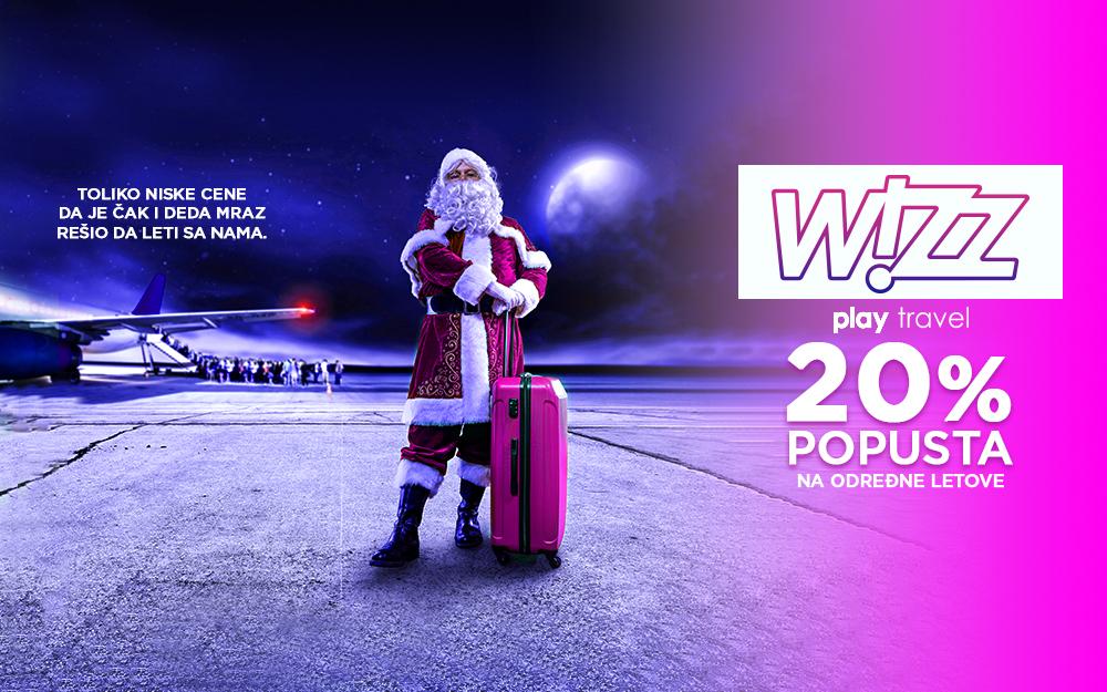 Wizz Air - 20% popusta na kupovinu avio karata nova godina 2018