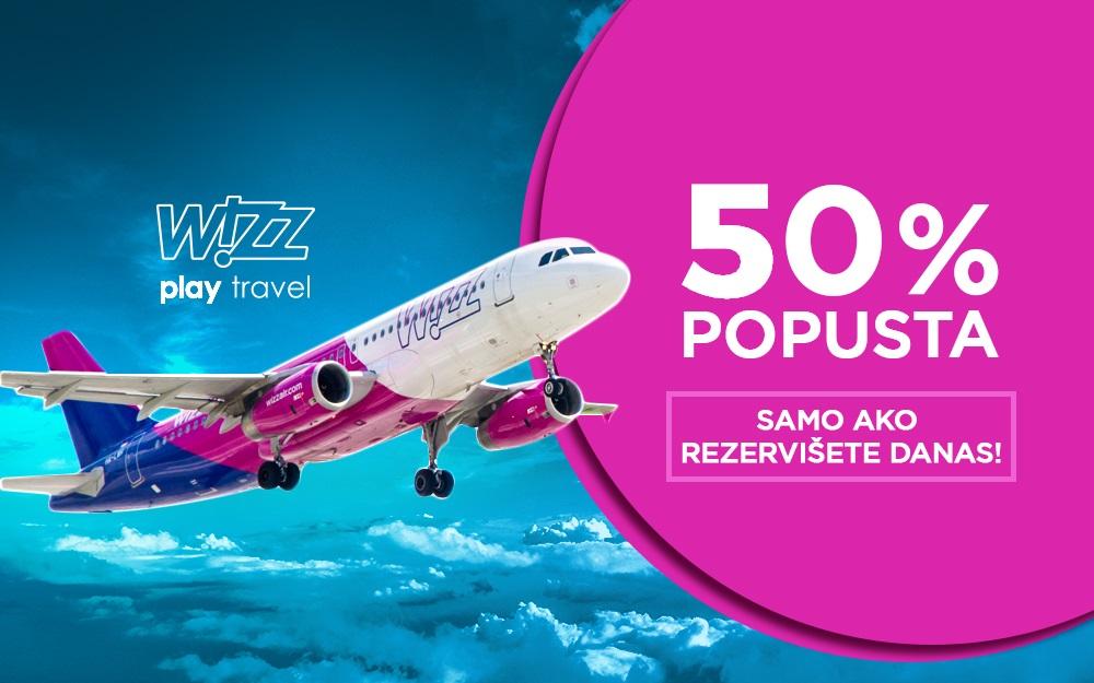 Wizz Air 50 popusta na sve avio karte