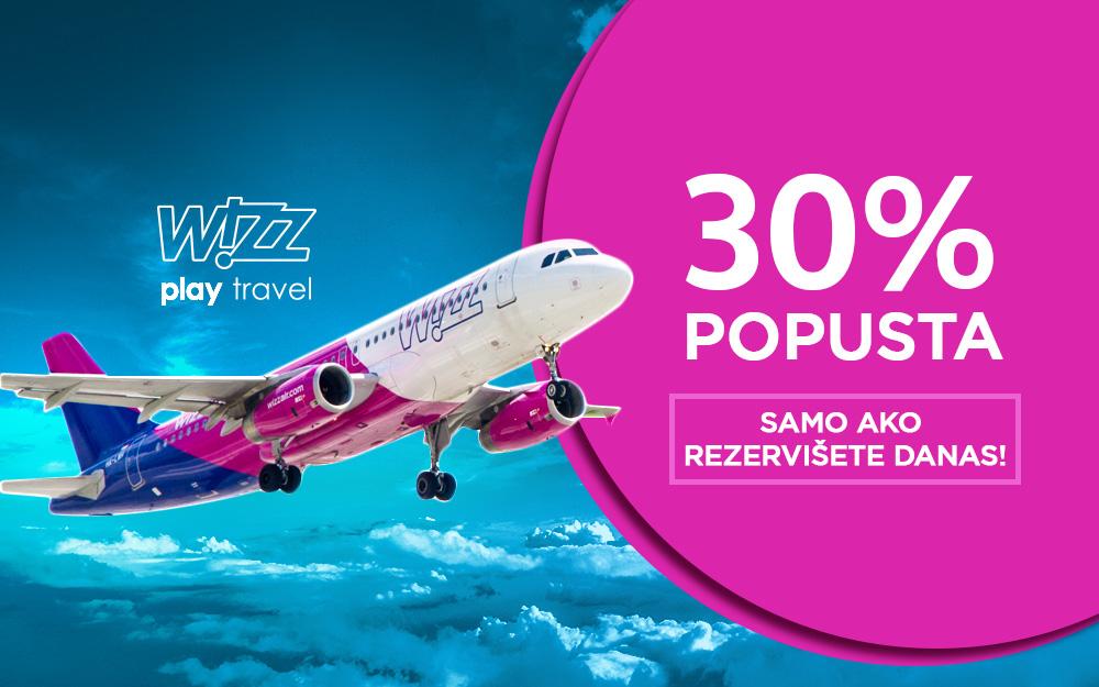 Wizz Air - Pink ponedeljak popust do 30 posto