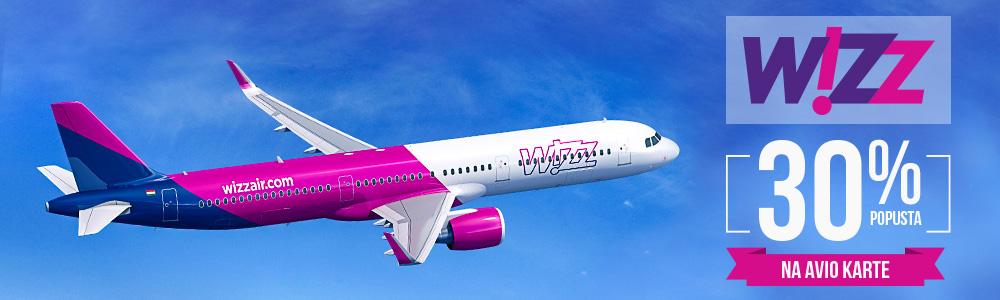 Wizz Air Popusta na avio karte Black Friday