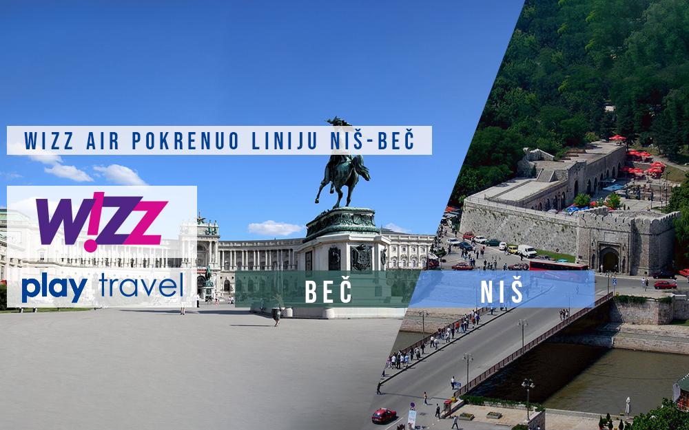 Wizz Air pokrenulo liniju Niš Beč.