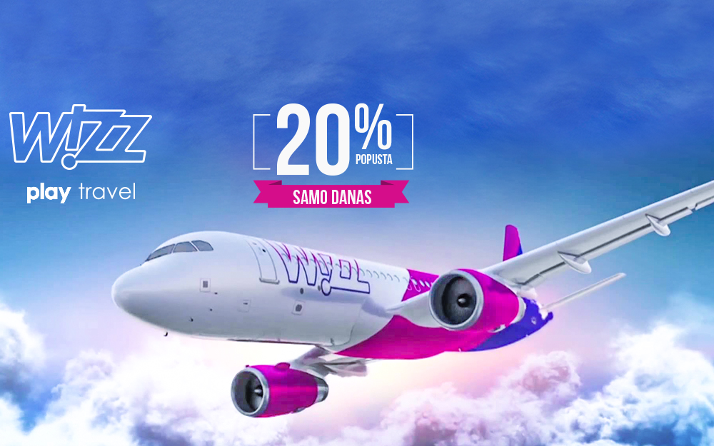 Wizz Air - 20% popusta na sve avio karte i sve letove iz Mađarske!